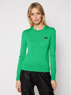 Pinko Sweter Starter PE 21 BLK01 1G15ZF Y6XB Zielony Regular Fit