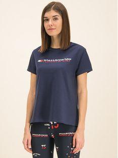 Tommy Sport T-Shirt Tee Logo S10S100061 Granatowy Regular Fit
