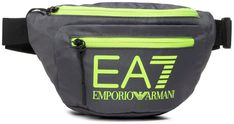 Saszetka nerka EA7 EMPORIO ARMANI - 275979 CC980 10149  Antracite/Yellow Flu