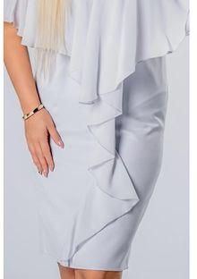 Sukienka szara Ptakmoda.com wyszczuplająca