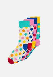 HAPPY SOCKS - BIG DOT FUN 4 PACK - Skarpety - wielokolorowy