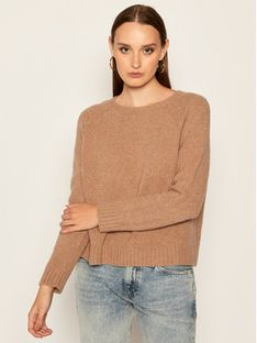 Weekend Max Mara Sweter Amici 53662109 Brązowy Regular Fit