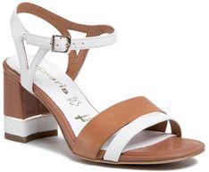 Sandały TAMARIS - 1-28033-24 White/Cognac 144