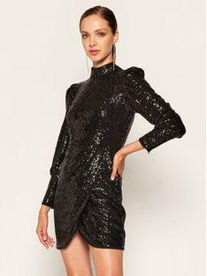 TwinSet Sukienka koktajlowa 202TT2261 Czarny Slim Fit
