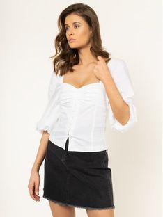 Pinko Bluzka Kappa 20201 PBK2 1B14HN 8012 Biały Slim Fit