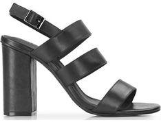 Wittchen sandały damskie skórzane z klamrą na lato bez wzorów na wysokim obcasie