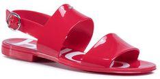 Hugo Sandały Emma Stripe Sandal 50435374 10228260 01 Czerwony