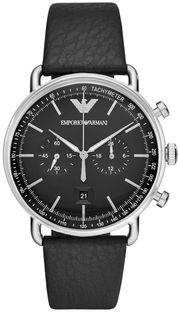 Zegarek EMPORIO ARMANI - Aviator AR11143  Silver/Black