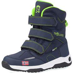 Trollkids buty zimowe dziecięce na rzepy na zimę z polaru