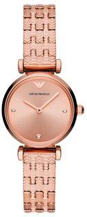 Zegarek EMPORIO ARMANI - Gianni T-Bar AR11342  Rose Gold