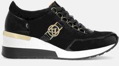 Czarne sneakersy damskie