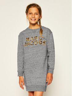 Little Marc Jacobs Sukienka codzienna W12305 S Szary Regular Fit