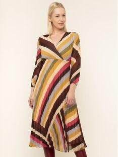 iBlues Sukienka koktajlowa 72263796 Kolorowy Regular Fit