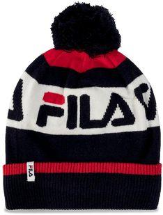 Czapka FILA - Intarsia Knitted Beanie 686036  Black Iris/True Red/Bright White G06