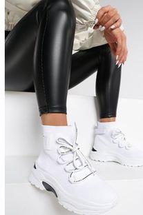 Sneakersy damskie Renee na wiosnę na platformie sznurowane bez wzorów