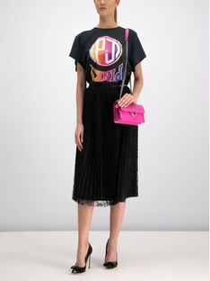 Pinko Spódnica plisowana 20191 UNQS 3U10HT.Y5HK Czarny Regular Fit