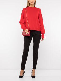 The Kooples Sweter FPUL19005K Czerwony Oversize