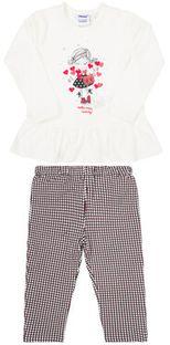 Primigi Komplet bluzka i legginsy Informal Campus 44191501 Biały Regular Fit