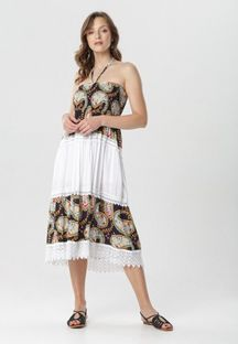 Granatowa Sukienka Dorynaera