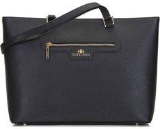 Shopper bag Wittchen elegancka czarna