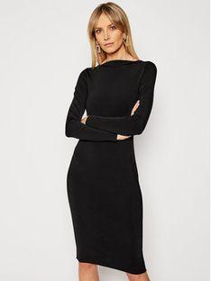TwinSet Sukienka koktajlowa 202TP3148 Czarny Slim Fit