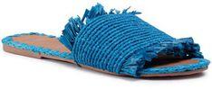 Manebi Klapki Leather Sandals S 1.9 Y0 Niebieski