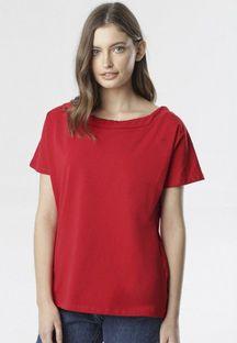 Czerwony T-shirt Pireino
