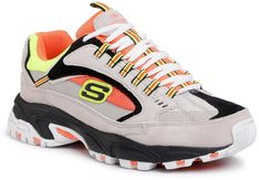 Buty SKECHERS - Cutback 51286/GYOR Gray/Orange