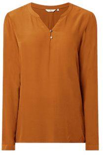 Bluzka damska Tom Tailor z dekoltem w serek brązowa