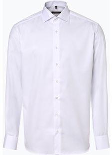 Koszula męska Eterna biała na wiosnę bez wzorów elegancka