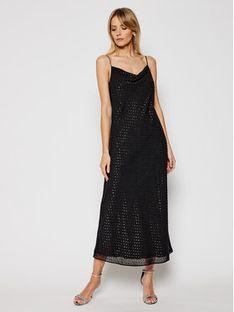 Trussardi Jeans Sukienka wieczorowa 56D00486 Czarny Regular Fit