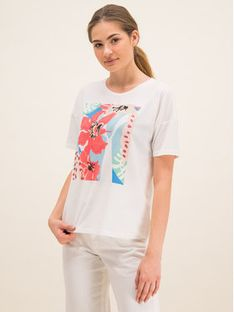 Laurèl T-Shirt 41008 Beżowy Regular Fit