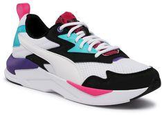 Sneakersy PUMA - X-Ray Lite Duo 374123 04 Black/White/Green/Violet