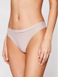 Calvin Klein Underwear Stringi 000QF4844E Beżowy
