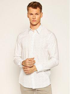 Guess Koszula Sunset M0YH20 W8BX0 Biały Slim Fit