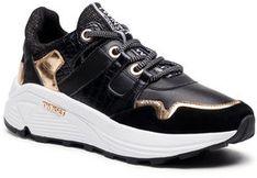 TwinSet Sneakersy Running 202TCP072 Czarny