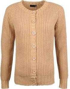 Sweter damski beżowy Fracomina z okrągłym dekoltem