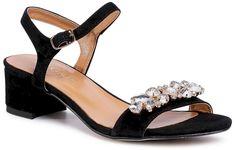 Sandały SAGAN - 4139 Czarny Welur