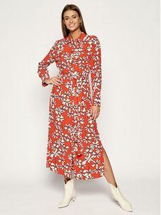 Laurèl Sukienka koszulowa 12002 Pomarańczowy Regular Fit