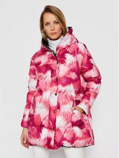 Mr & Mrs Italy Płaszcz zimowy 192XDJ0117 Różowy Regular Fit