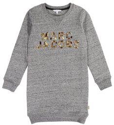Little Marc Jacobs Sukienka codzienna W12305 M Szary Regular Fit