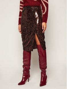 Marella Spódnica midi Negus 37760108 Brązowy Slim Fit