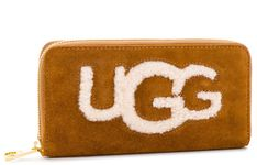 Duży Portfel Damski UGG - W Honey Zip Arnd Wallet Sheep 1093571  Che