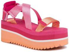 Sandały TOMMY JEANS - Pop Color Flatform Sandal EN0EN00847 Red XIF