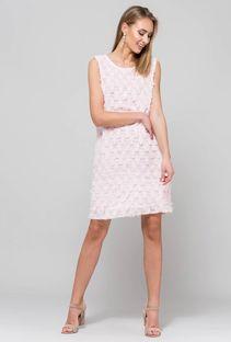 Efektowna sukienka z wyciętym tyłem