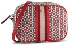 Torebka TORY BURCH - Gemini Link Canvas Mini Bag 57743 Liberty Red Gemini Link 939