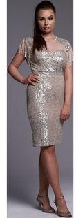 Sukienka Ella Boutique z okrągłym dekoltem