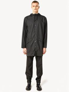 Rains Kurtka przeciwdeszczowa Essential 1202 Czarny Regular Fit
