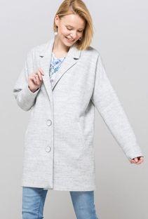 Klasyczny płaszcz z pięknymi guzikami