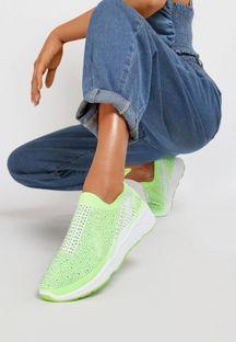 Limonkowe Sneakersy Aroapeia